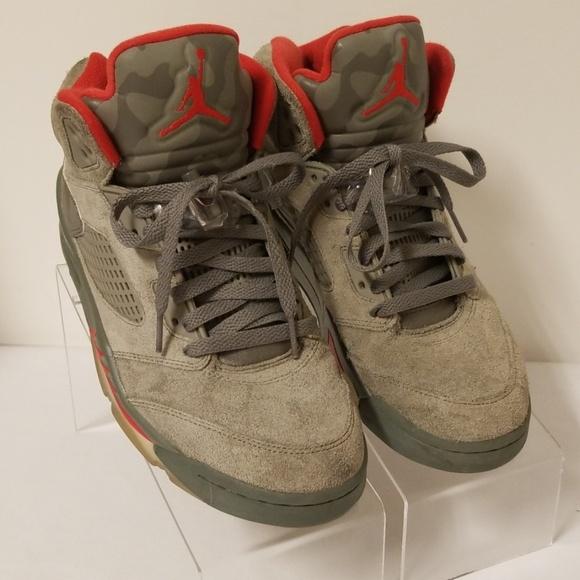 promo code d3bb9 240f3 Air Jordan 5 retro grey camo Nike shoes size 8